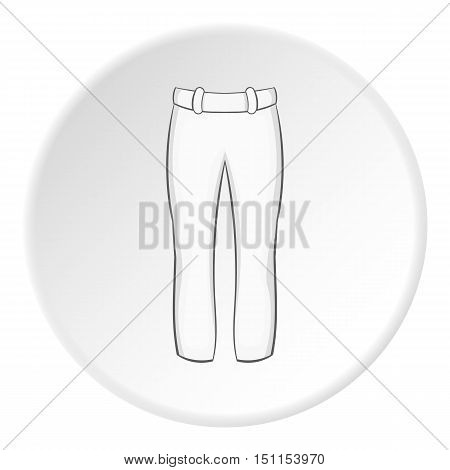 White baseball player pants icon. cartoon illustration of White baseball player pants vector icon for web