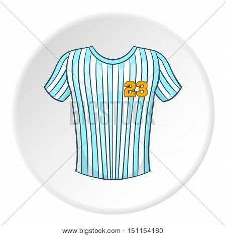 Striped baseball shirt icon. cartoon illustration of striped baseball shirt vector icon for web