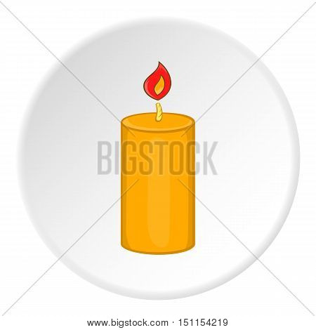 Burning candle icon. cartoon illustration of candle vector icon for web