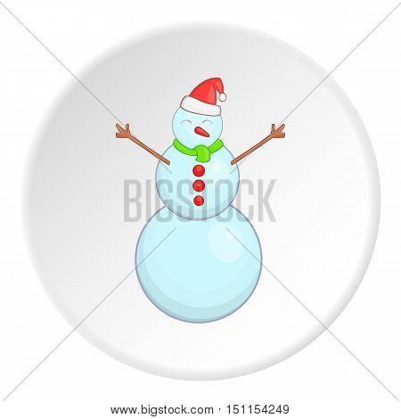 Snowman icon. cartoon illustration of snowman vector icon for web