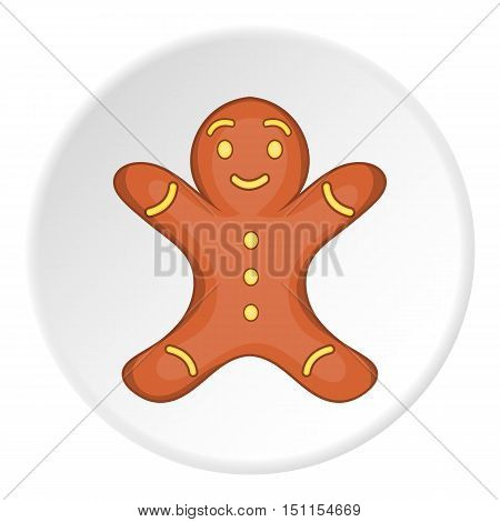 Gingerbread man icon. cartoon illustration of vector icon for web