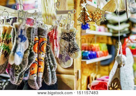 Little Woolen Socks At The Riga Christmas Market