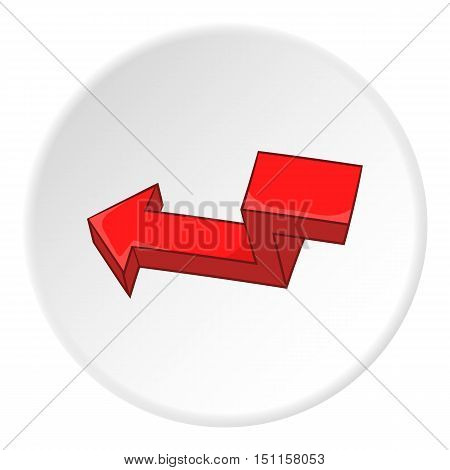 Red broken arrow icon. cartoon illustration of red broken arrow vector icon for web