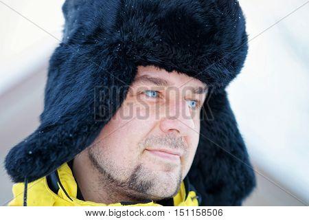 Young Fellow In Winter In Trakai
