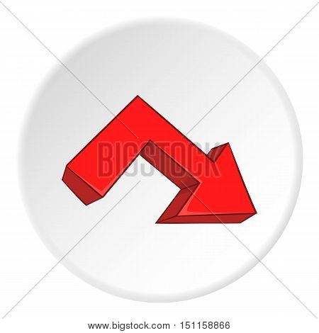Right broken arrow icon. cartoon illustration of right broken arrow vector icon for web