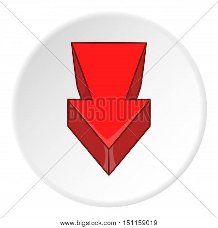 Red arrow icon. cartoon illustration of red arrow vector icon for web