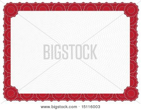 certificado vermelho