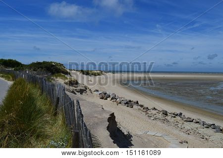 View of the bay at Touquet Paris Plage