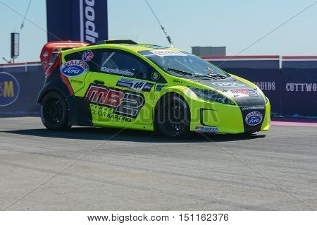 Christian Brooks 44, Drives A Grc Lites Car, During The Red Bull Global Rallycross