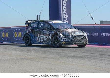 Brian Deegan 38, Drives A Ford Fista St, During The Red Bull Global Rallycross