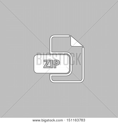 ZIP Icon Vector. Flat simple color pictogram
