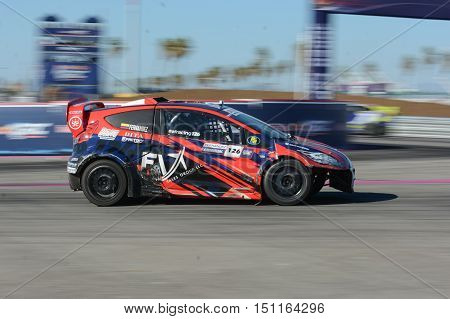 Alejandro Fernandez 126, Drives A Grc Lites Car, During The Red Bull Global Rallycross