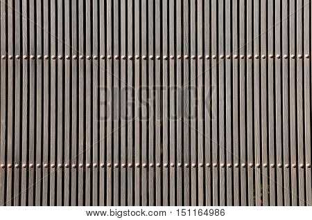 Wooden wall exterior of Japanese traditional house
