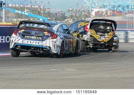 Mitchell Dejong 24 And Tanner Whitten 07,  Battle For Position During The Red Bull Global Rallycross
