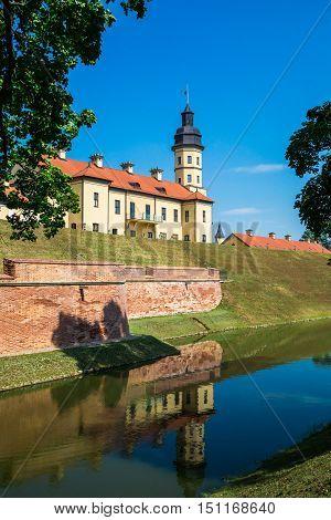 Medieval castle in Nesvizh Belarus historic landmark old architecture