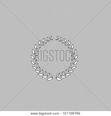 Wreath Icon Vector. Flat simple color pictogram