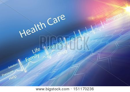 Abstract health care background Suitable for Healthcare and Medical Topic News 3d Render 3d illustration