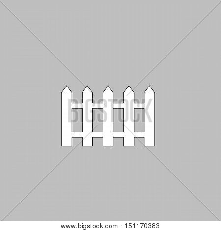 Fence Icon Vector. Flat simple color pictogram