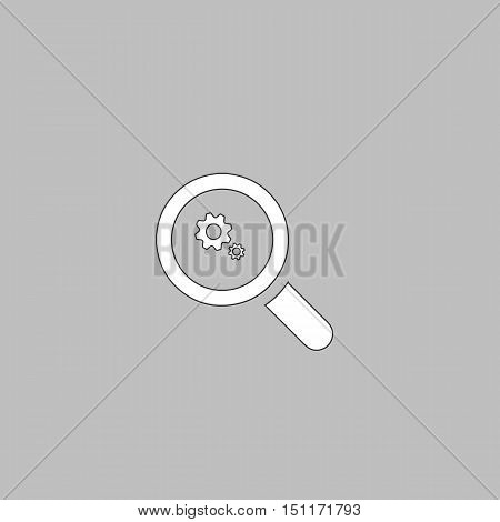 Business Analysis Simple line vector button. Thin line illustration icon. White outline symbol on grey background