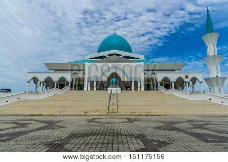 PARIT RAJA,BATU PAHAT, OCT 11, 2016 : University Tun Hussien Onn Malaysia Mosque was named Sultan Ibrahim Mosque after inauguration located in main campus University Tun Hussien Onn Malaysia.