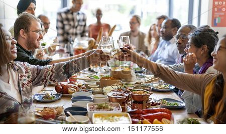 Food Catering Cuisine Culinary Gourmet Buffet Party Cheers Concept