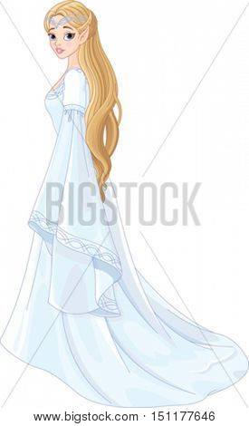 Fantasy style portrait of elf princess