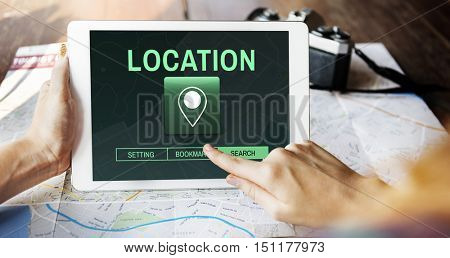 Location Travel Destination Global Positioning System Concept