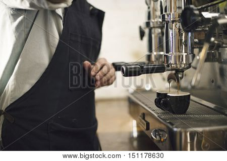 Uniform Apron Coffee Shop Cafe Team Barista Concept