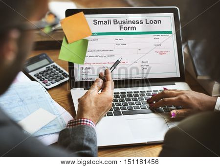 Small Business Loan Form Ownership Concept