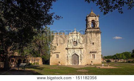 Entrance to the old Spanish Mission San Jose in San Antonio Texas
