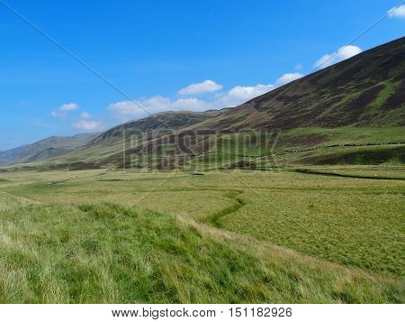A beautiful valley in Scottish Highlands, Scotland