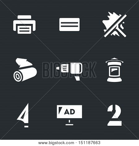 Plotter, printer, squeegee, sticker, mounting film, screwdriver, stand, knife, billboard, stencil icons