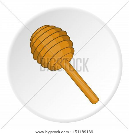 Honey dipper icon. artoon illustration of oney dipper vector icon for web