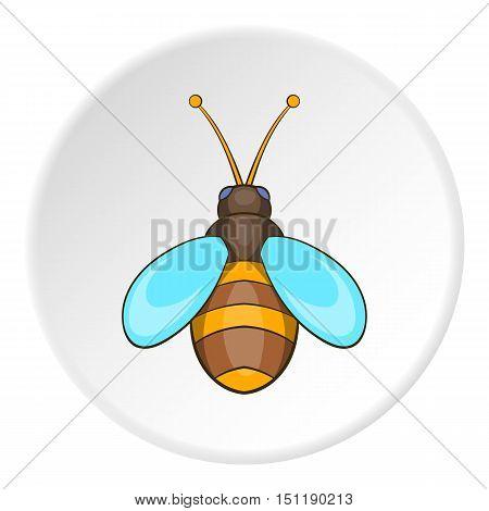 Bee icon. artoon illustration of bee vector icon for web