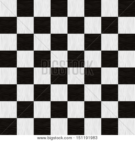 Empty chess board. Wooden empty chess board seamless pattern