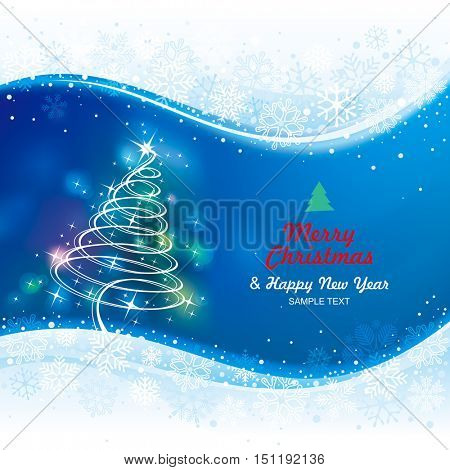 Holiday background with Christmas tree.