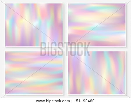 Holographic Background Multicolor Texture Pink