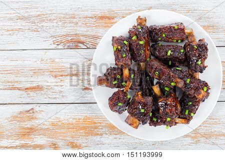 Fried Sticky Ribs Marinated In Soy Sauce And Ginger
