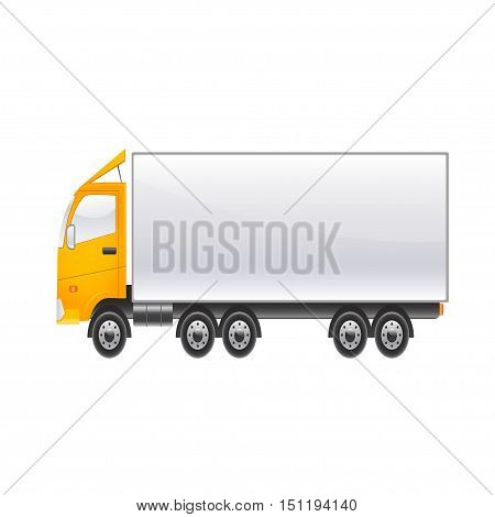 Large cargo lighter car on a white background. Vector illustration