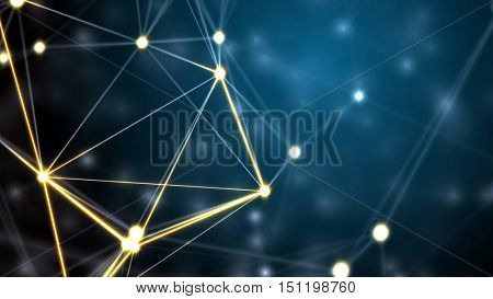 Futuristic technology abstract background. 3D rendering.