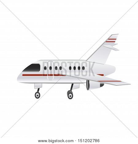 Small airplane on a white background. Vector illustration
