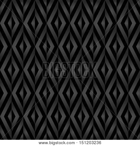 Seamless vector dark pattern for your designs and backgrounds. Modern geometric ornament