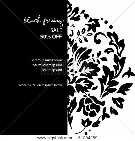 Black Friday sale inscription design template for your business artwork. Banner label badge print poster web sticker. Discount shopping advertising marketing price tag. Vector illustration.