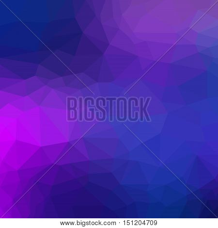 Violet Abstract polygon geometric background. Vector and illustration