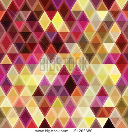 Colorful Abstract Geometric Triangle Pattern. Seamless Flat Background.