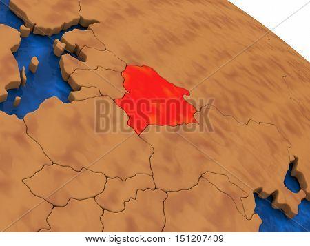 Belarus On Wooden Globe