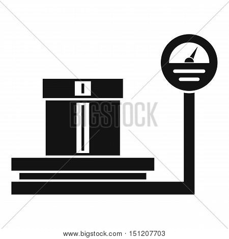Shop scales icon. Simple illustration of shop scales vector icon for web