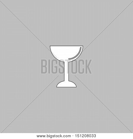 Wine glass Icon Vector. Flat simple color pictogram