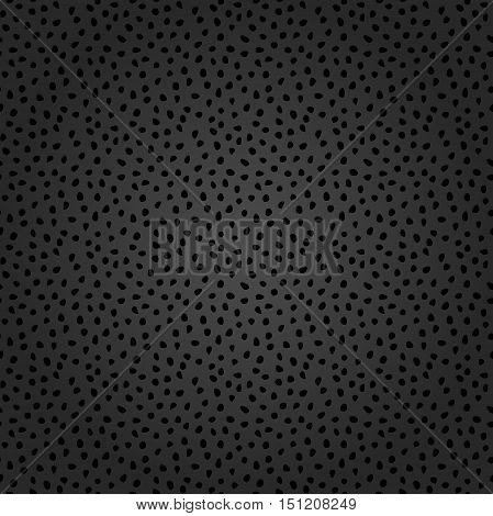 Seamless dark vector background with random elements. Tileable ornament. Dotted abstract background