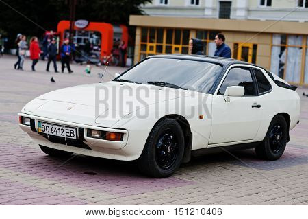 Tarnopol, Ukraine - October 09, 2016: Porsche 924 Is A Luxury Sports Car Which Was Produced By Porsc